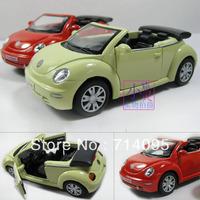 Models Beetle Aabriolet Alloy baby Car Metal Model Soft World Kt1 : 32 black Child Gift freeshipping