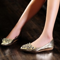 2013 New Style Rhinestone Sharp-Pointed Flat Shoes For Women Free Shipping