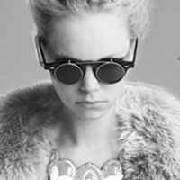 Fashion vintage round box metal sunglasses personalized double layer flip dual-use sun glasses punk black