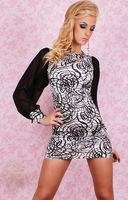 free shipping one-piece dress women Dl loose long-sleeve sexy one-piece dress fashion sexy 2379 sexy