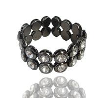 Fashion Brief Full Rhinestone Elastic Bracelet Luxury C36 Accessories Fashion Wide Bracelets