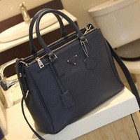 2013 color block bag casual fashion handbag messenger bag women's bags
