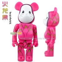 Box Building Blocks Violence Bear Momo Bear Vinyl Toy Doll Dolls Dragon Fruit