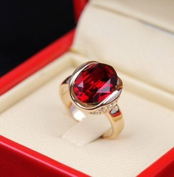 Crystal ring / retro royal / personalized atmosphere jewelry(China (Mainland))