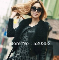 Free shipping the latest European and American wind Women Leopard Slim package hip long-sleeved primer dress