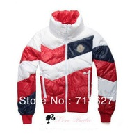 Free shipping - Hot 2013 new men hit the color down jacket