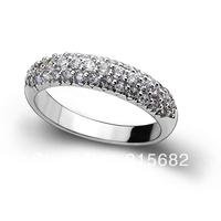 Italina  Boutique luxury full crystal  Korean jewelry 925 sterling silver finger rings Switzerland gem Kedol-SL13