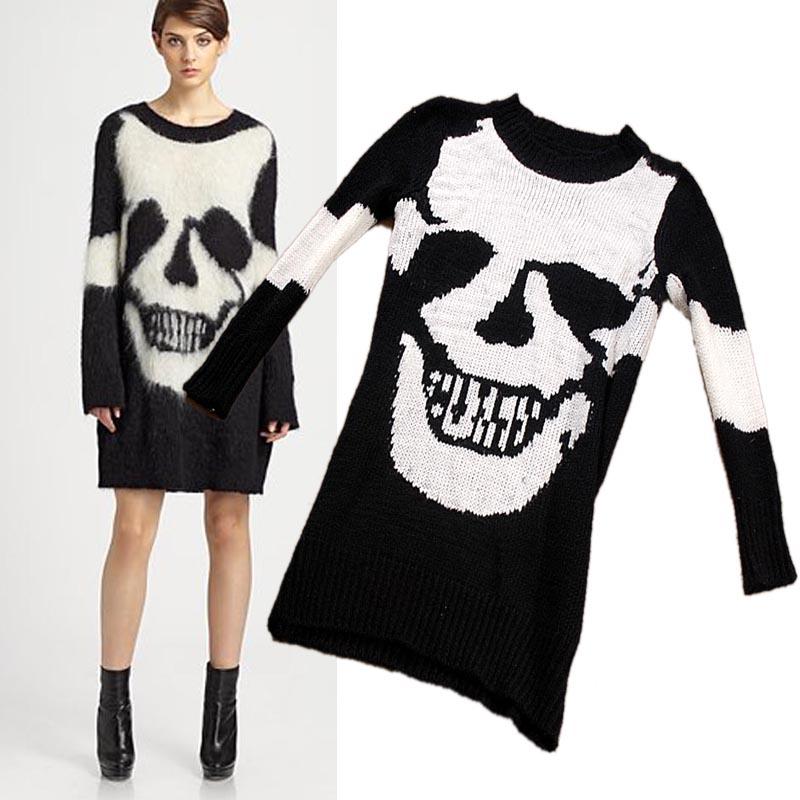 Punk Sweater Pattern Punk Skull Pattern Knitted