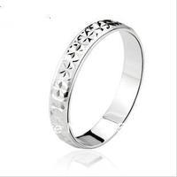 Italina Promotion fashion 3mm sky full of stars 925 sterling silver couple flower finger ring women single Kedol-SL5