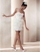 Listen ! Smelling... Yesterday Once M......Sheath/ Column Sweetheart Short/ Mini Satin Wedding Dress