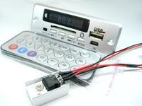 Belt display screen fm radio clock function mp3 decoder board sd usb flash drive 12v decoder