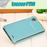 Hot sale!! Top quality 5 colors TPU case for lenovo P770 with free HD screen protector  FREE SHIPPING