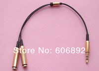 20pcs/lot 3.5mm Earphone headphone Splitter Male 1 To 2 Dual Female Y Splitter Audio Cable Adapter Jack