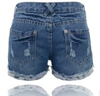 Free Shipping!2013 New Korean jean shorts for women  leather