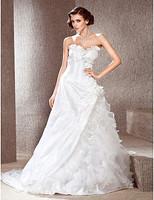 Listen ! Smelling... Yesterday Once M......A-line Sweetheart Chapel Train Taffeta Wedding Dress