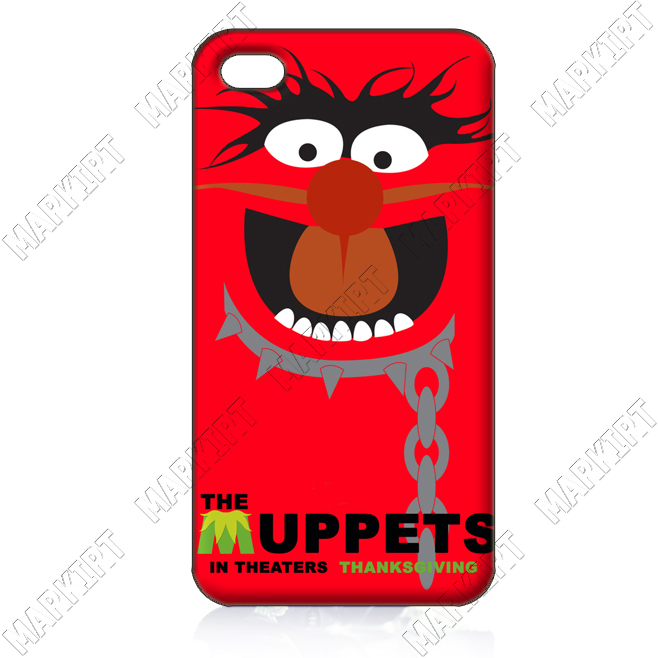 ILC1758 muppets animal 10 pcs/lot case cover for iphone 4 4s 4th wholesale retail free shipping for bulk order(China (Mainland))