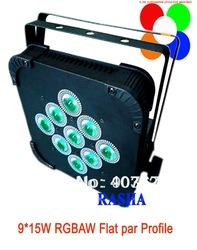 4pcs/LOT 2013 Hot 9*9W 3IN1 RGB Tri Color LED Flat Par Profile-LED Par Can Profile,Disco Stage Light(China (Mainland))