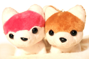 Baby sled dogs husky the dog bags pendant plush toy doll
