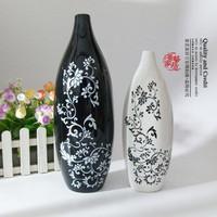 Fashion modern fashion brief decoration home decoration ceramic vase fashion display