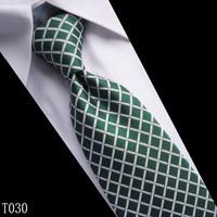 New Classic Solid Color Stripes Jacquard Woven Men's Tie Necktie 19Colors T030