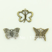 24PCS  Free shipping retro metal butterfly DIY Accessories  home decoration craft 0120924020