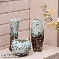 Modern brief new homes decoration crafts vase sculpture ceramic three piece set