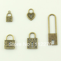 50PCS  Free shipping retro metal lock DIY Accessories  home decoration handmade model craft 0120924012