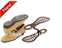 Free shipping anti distortion plastic foldable Shoe trees shoe stretcher as save space folding storage shoes shelf as homeware.