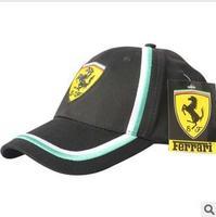Free shipping fleet of 100% cotton 2-color adjustable F1 racing hat hat outdoor sports cap baseball cap