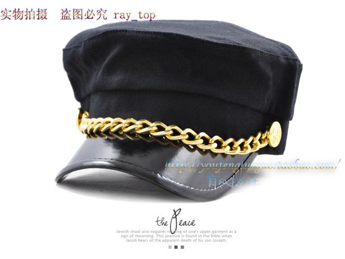 Chapéu das mulheres de inverno chapéu do marinheiro cap cadete cap marinha cinto de lã(China (Mainland))