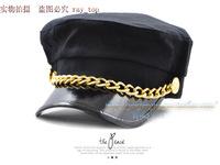 Woolen belt navy cap cadet cap sailor hat winter women's hat