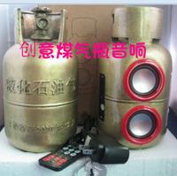 Personalized gift gas tank mini usb flash drive sd cassette radio small speaker audio subwoofer