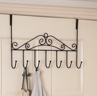 Wrought iron door after the door rack muons seamless hook hangers