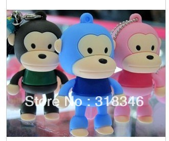Big mouth monkey 16GB/32GB USB2.0 Flash Disk Memory Stick Pen Drive High Qualtiy free shipping