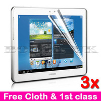 3 x LCD CLEAR SCREEN PROTECTOR GUARD FOR SAMSUNG GALAXY NOTE TABLET 10.1 N8000 FREE SHIPPING
