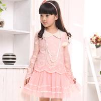 Girls dress princess   child long-sleeve chiffon  high quality  y2098