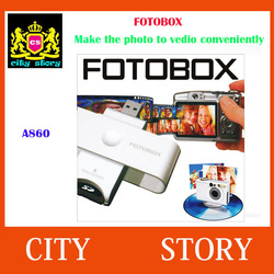 The Newest Useful USB FotoBox Photo Video Movie Maker SLIDESHOW CREATOR Photo to Movie Editor With Package Free Shipping(China (Mainland))