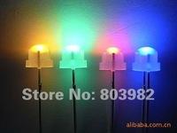 (CE&Rosh)Multicolor flashing led 4.8MM strawhat led 7-color changing dip led 3.0-3.5V(slow flashing)