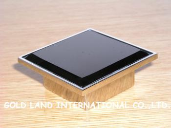 32mm L80xW80xH25mm Free shipping crystal glass furniture drawer knob