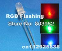 Automatic flasher 5mm led seven-color changing through hole led 3.0-3.5V slow blinking DIP LED