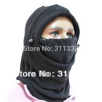 Free shipping Hot 6 in 1 Thermal Fleece Balaclava Hood Police Swat Ski Bike Wind Stopper Mask