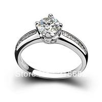 Italina Luxury Hearts and Arrows Swiss big gem Sterling Silver  female wedding ring jewelry free shipping Kedol-SL30