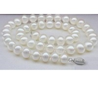 AAA9-10mm natural Japanese sea white pearl necklace 18INCH