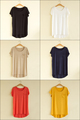 Fashion female loose pocket lengthen modal o-neck short-sleeve t-shirt
