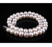 "Fresh Water White Pearls 18"" Necklace 9-10mm Pearl Size"