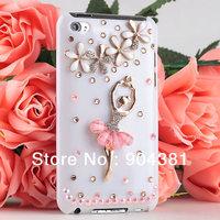 Handmade Bling Ballet Dancer Diamond Hard Back Case Cover For IPOD TOUCH 4 4th 4Gen