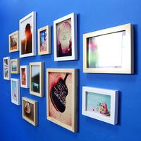 Free shipping, Photos of wall photo wall wood 13 box fashion photo frame photo frame fashion home combination
