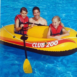 Intex inflatable boat 58318 ship French paddle pump