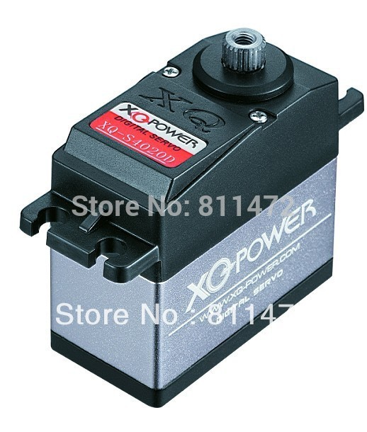 XQ-POWER XQ-S4020D 6V 20kg-cm Digital Servo with Titanium Gear;easy to eliminate heat;Adopt high quality coreless motor.(China (Mainland))