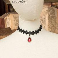 Готический lace Лолита панк аксессуары ложных воротник персонализированные моды сексуальная сторона ожерелье аксессуары Готика
